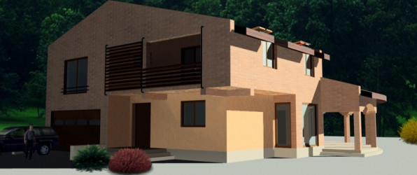 Proiect casa P+E cu garaj